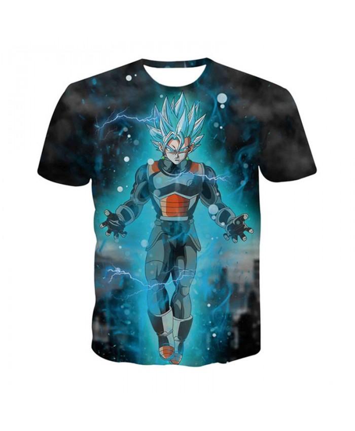 2019 New Ball Z Mens 3D Dragon Ball Z T Shirt Super Saiyar Vegeta T-shirt Men Summer Blue Tee Shirt Homme Animation Streetwear