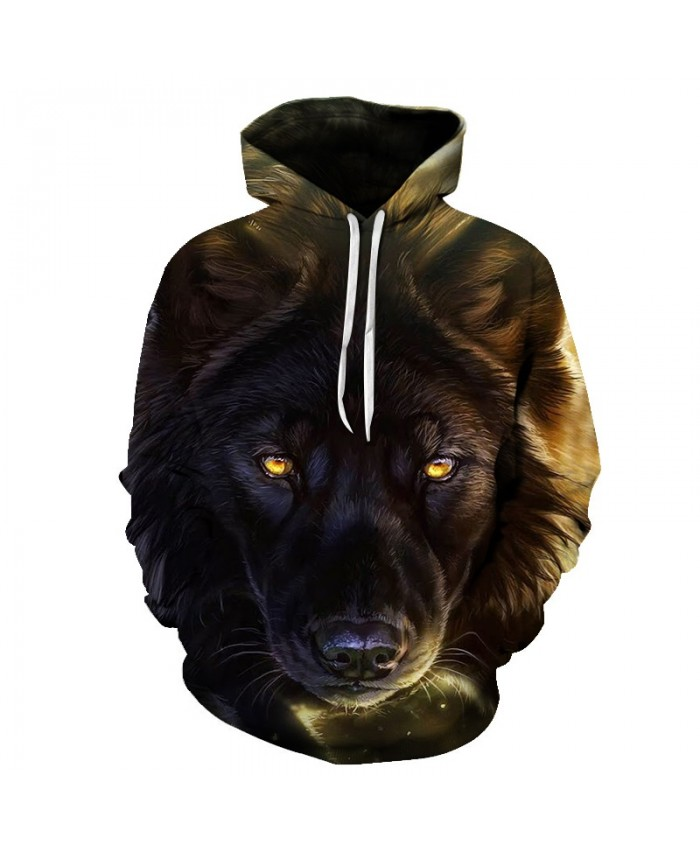 2021 New Blue Hoodies Men Wolf Hoody Sweatshirt Casual Tracksuit 3D Pullover Male Coat Streatwear Hooded Dropship