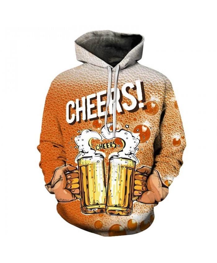 2019 New Clink Beer 3D Print Men Pullover Sweatshirt Pullover Hoodie Casual Fashion Men Hoodie Streetwear Sweatshirt