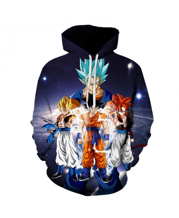 2019 New Dragon Ball Hoodies 3D Sweatshirts Men Women Tracksuits Casual Pullover Anime Hoodies man Hooded Jackets hip hop tops