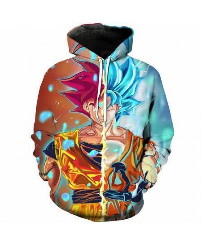 2021 New Fashion 3D Hoodeds Anime Dragon Ball Z Goku Super Saiyan Sweatshirt 3D Print Pullover Men Women hoody