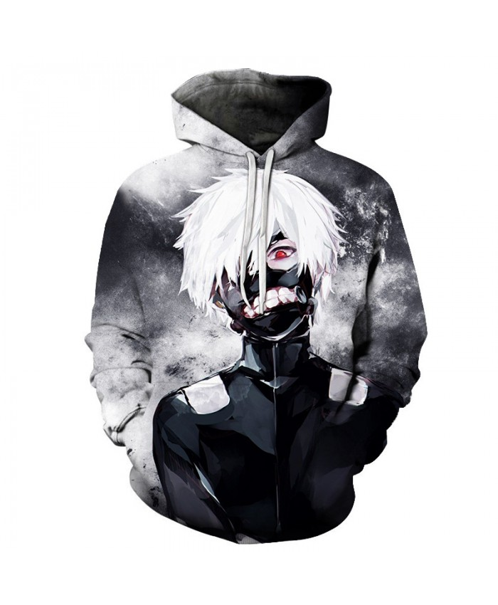2019 New Fashion Hip Hop Rock Hooded Hoodies Men Women Sweatshirts Classic Tokyo Ghoul 3D Print Unisex Streetwear Tracksuits