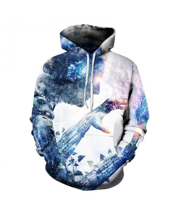 2019 New Flame Hand Men hoodies Pullover Sportsuit Long Sleeve Pullover Sweatshirt Casual Hoodie Men