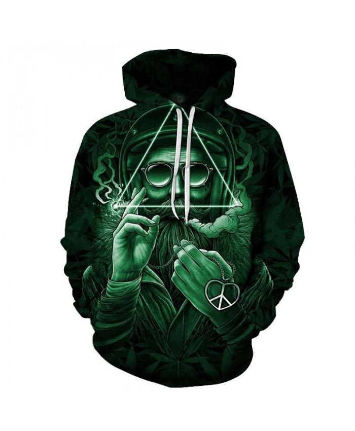 2019 New Green Glasses Men hoodies Pullover Sportsuit Pullover Sweatshirt Casual Hoodie Men Long Sleeve