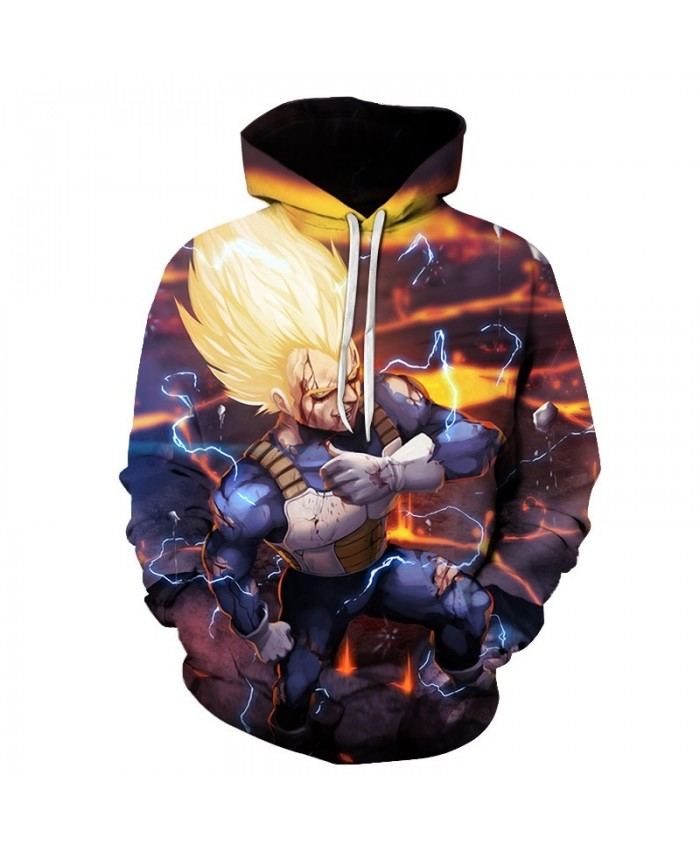 2021 New Hoodie Dragon Ball Z Pocket Hooded Sweatshirts Goku 3D Hoodies Pullovers Men Women Long Sleeve