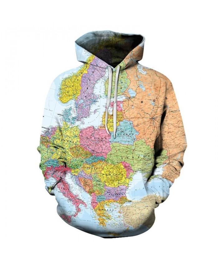 2019 New Line Map 3D Printed Men Pullover Sweatshirt Pullover Hoodie Fashion Casual Men Streetwear Sweatshirt Hoodie