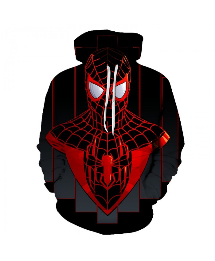 2021 New Marvel Comicis 3D Printed Spiderman Hoodie Fashion Streetwear Sweatshirts Hip Hop Anime Hoodies Men Casual Funny Jacket