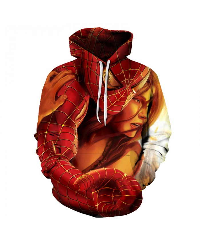 2019 New Marvel Comics 3D Printed Spiderman Hoodie Fashion Streetwear Sweatshirts Hip Hop Hooded Hoodies Men Women Funny Jacket