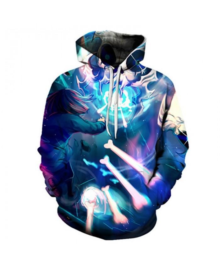 2019 New Sky Shines Undertale 3D Print Mens Pullover Sweatshirt Fashion Casual Men Hoodies Custom Pullover Hoodie