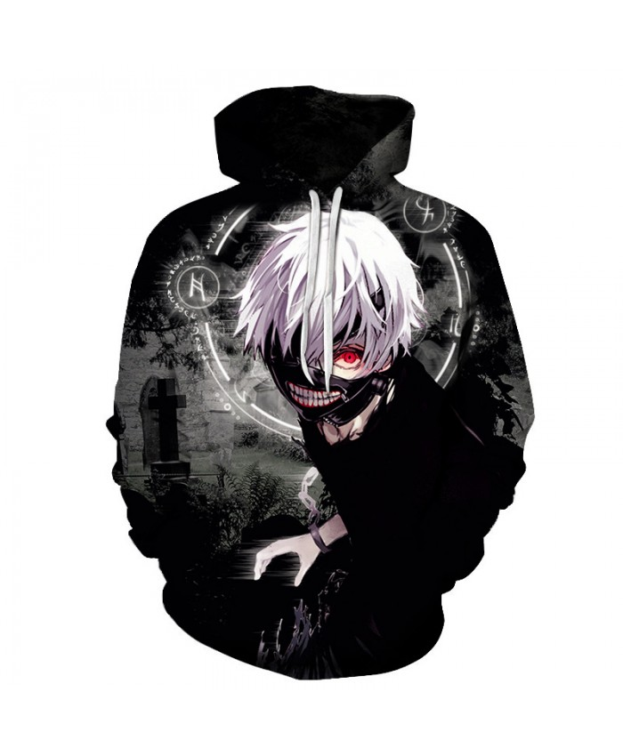 2019 New Tokyo Ghoul 3D Hoodies Sweatshirt Unisex Autumn Casual 3D Hoody Tops Men Women Hip Hop Outwear Sportswear Tracksuit