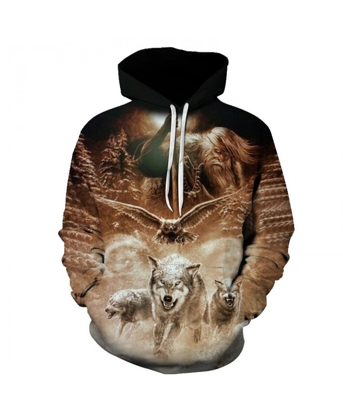 2021 New Wolf Eagle Hoodies Men Mens Clothing Cloud Pocket Animal Hoddie Sweatshirt Big Size 3d Hoodies Hooded Hip Hop Casual