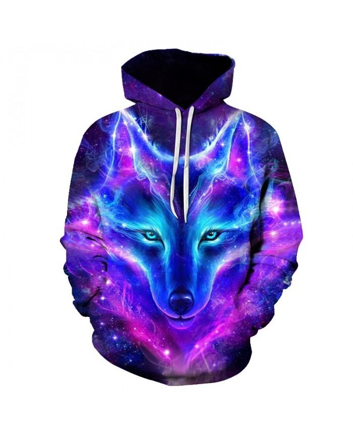 2021 New Wolf Printed Hoodies Men 3D Hoodies Brand Sweatshirts Boy Jackets Quality Pullover Fashion Tracksuits Animal Streetwear
