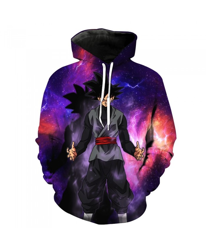 2021 New Women/Men Pocket Hooded Sweatshirt Cool Black Goku Prints Hoodie Galaxy Dragon Ball Z Hoodies Pullover