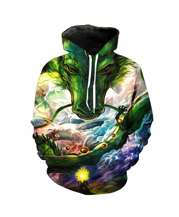 2019 New style Dargon Ball Z 3D Hoodies Goku and Shenron Prints Men Women Hipster hooded sweatshirt free shipping