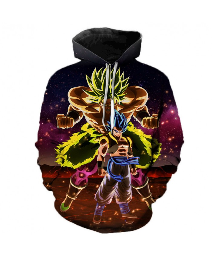 2021 Newest 3D Printing Dragon Ball Z Hoodies Men/Women Sweatshirts Hoody Cartoon Super Saiyan Broly Boy/Girls Polluver