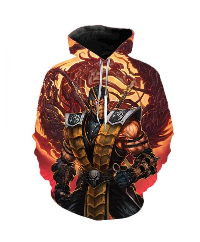 2019 Newest Mortal Kombat 11 3D Printed Hoodies Men Women Hooded Sweatshirts Spring Outerwear Plus Size Unisex Polluver