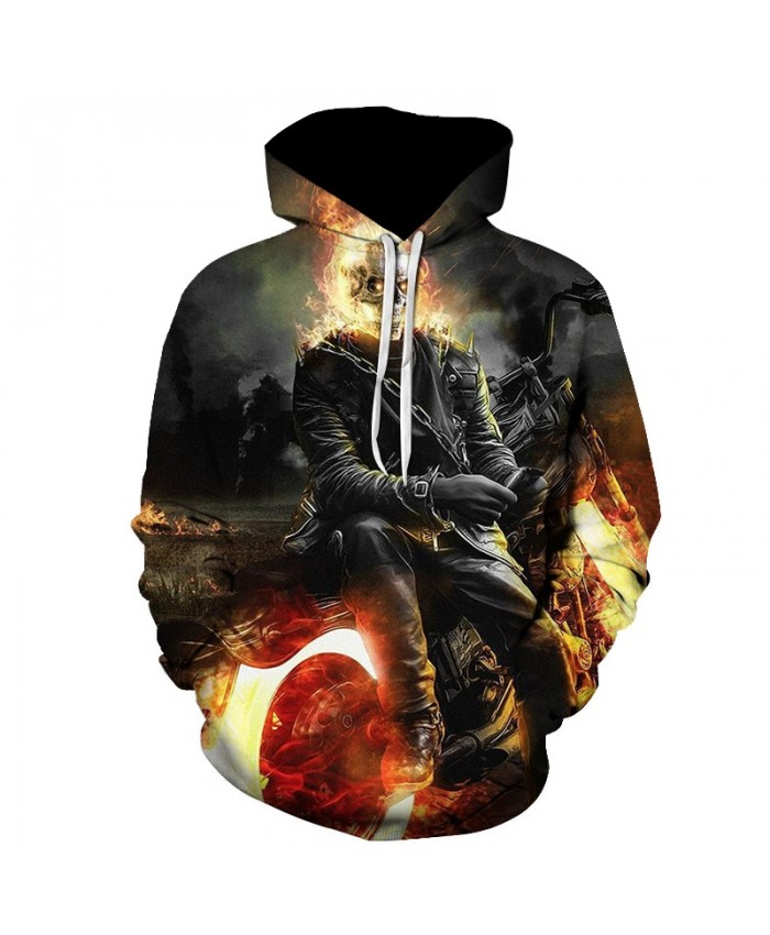2019 Skull Soul chariot 3D Hoodies Men Women Sweatshirts Hooded Pullover Tracksuits Boy Coats Fashion Outwear jacket The big size
