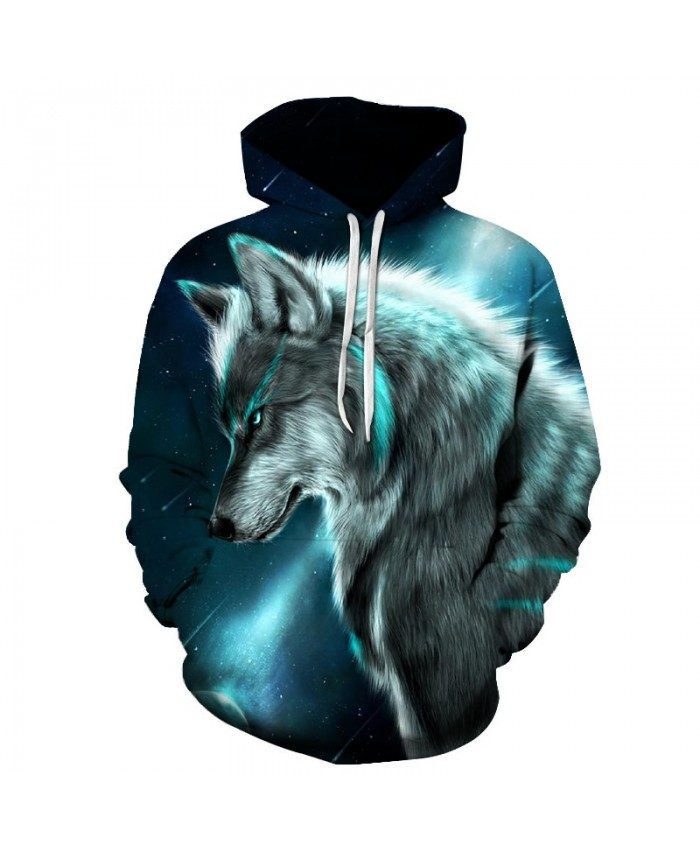 2021 Star-headed wolf print Hoodies Men 3D Sweatshirt Harajuku Hoody Pullover Tracksuits Streatwear Coat Drop ship