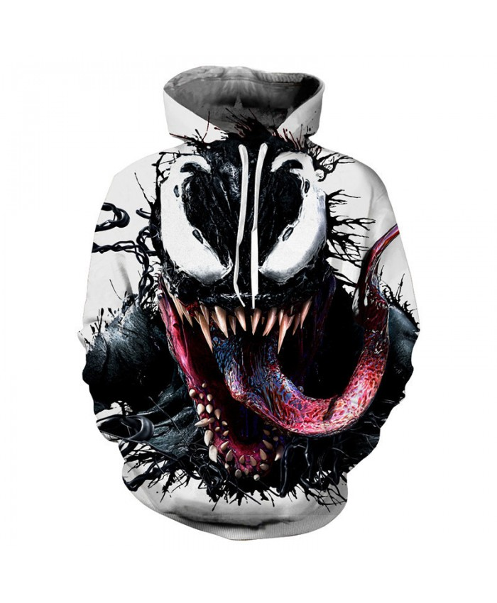 2019 hot Sales Anime Venom 3D Hoodie Sweatshirts Uniform Men Women Pullover Hoodies Fashion Tops Outerwear Coat