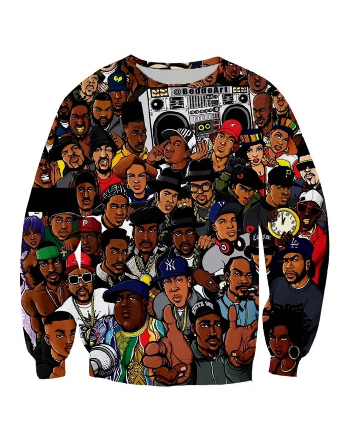 Hip Hop Music Singer 2pac Fashion Long Sleeves 3D Print  Cat Hoodies Sweatshirts Jacket Men women tops