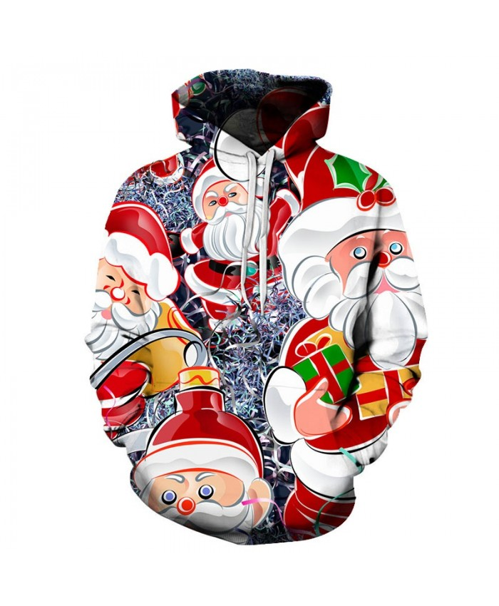 2021 Christmas Casual Fashion 3D Printed Hoodies Men Those Santas came to the pattern