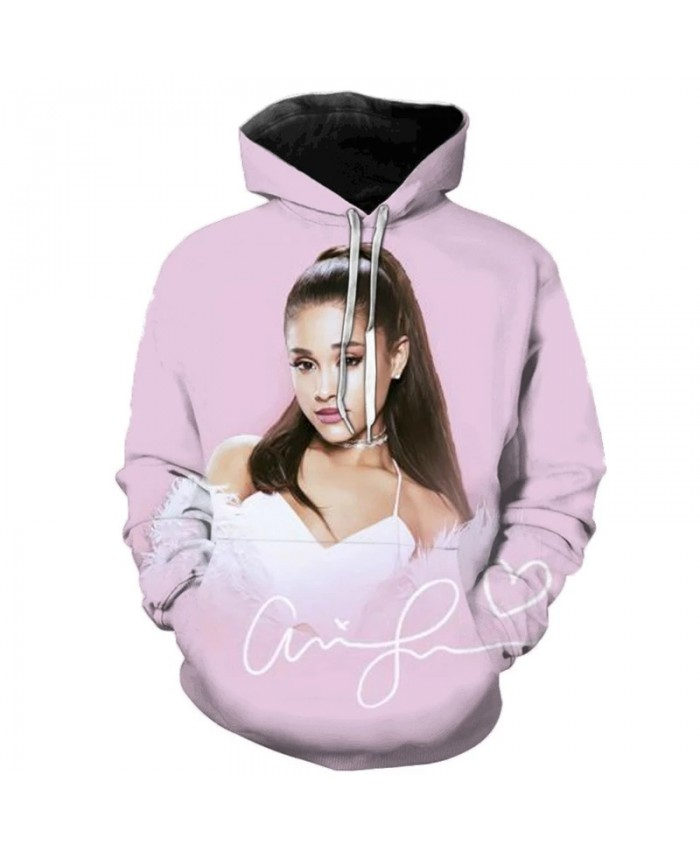 Ariana Grande 3D Print Hoodie Sweatshirts Harajuku Oversized Hoodie Fashion Hooded Top Men Women Ariana Grande Print Streetwear
