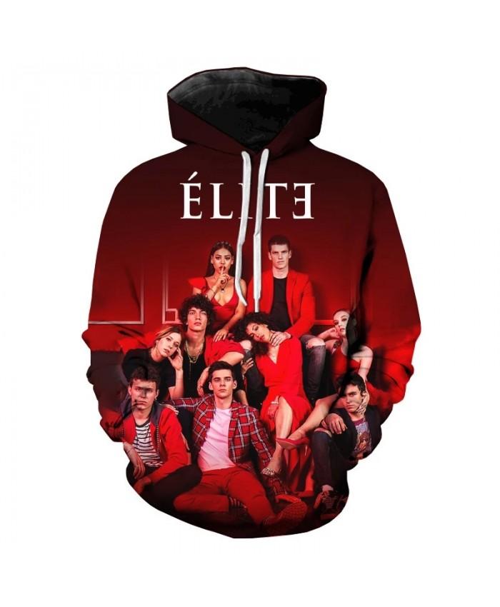 Hot TV Movies 3D Print Hoodie Sweatshirts Harajuku Oversized Hoodies Men Women Fashion Elite Season 3 Casual Pullover