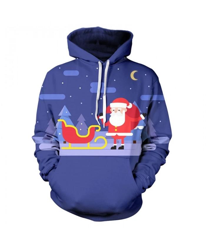 Christmas Hoodies Harajuku Men And Women Children 3d Hoodies Casual Pullovers Merry Christmas Hip-hop Cartoon Coat