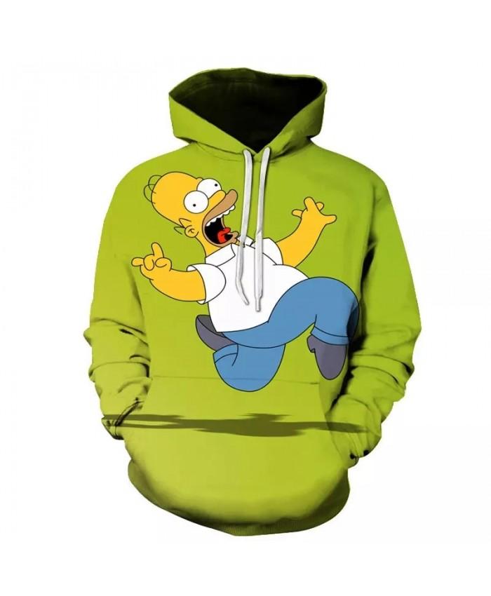 New Cartoon The Simpsons Hoodie 3D Printed Hooded Sweatshirt Men Women Casual Streetwear Hoodies Hip Hop Pullover Unisex Clothes