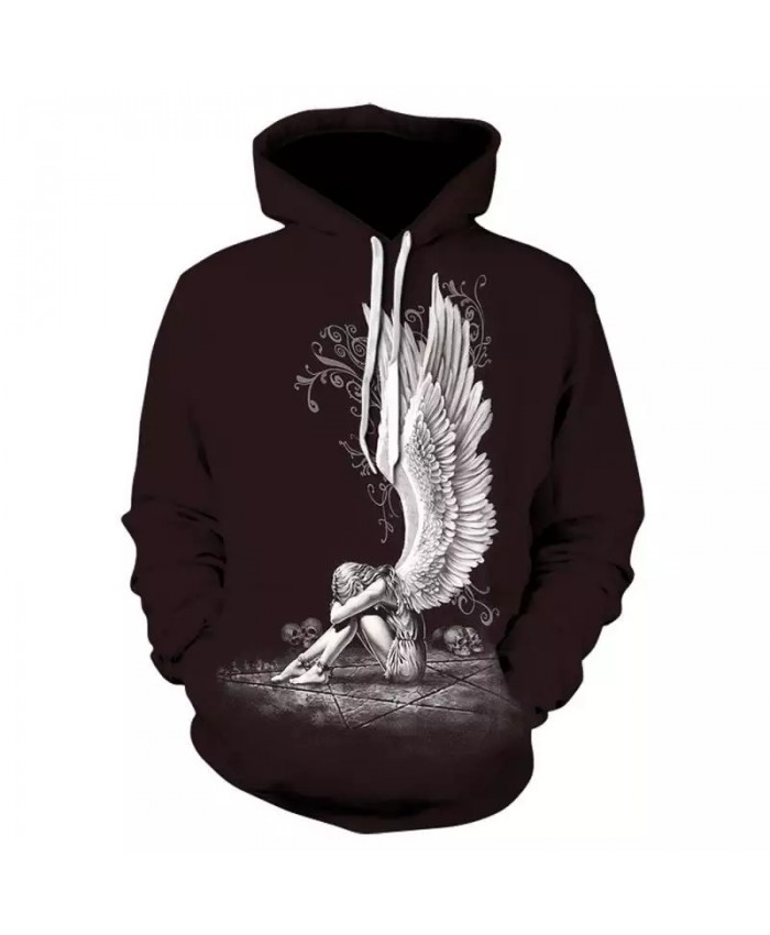 2021 Fall Men's Hoodie 3d Printing Angel Pattern Men's Hoodie Sweatshirt Fashion Casual Long Sleeve Personality Hoodie