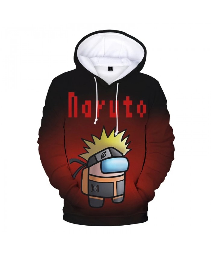 2021 Creative 3D Among Us Naruto Hoodies for Teens Girls Boys Autumn Winter Kids Cartoon Anime Hooded Sweatshirts Funny Pullover