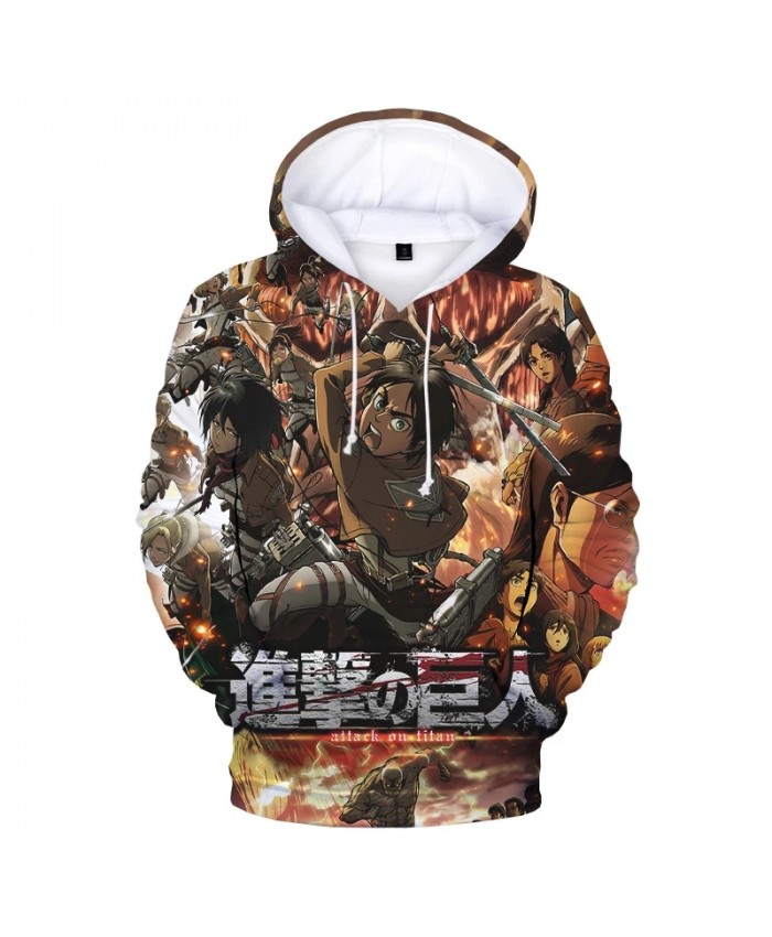 Newest Attack on Titan 3D Hoodies Men Women Fashion Anime Oversized Hooded Sweatshirts Attack on Titan Print Casual Pullover