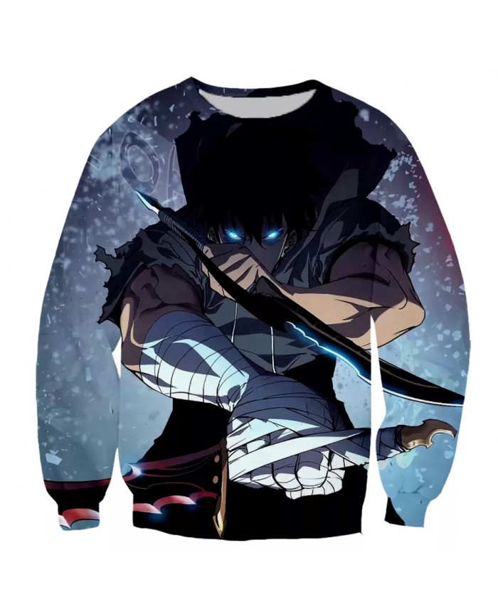Solo leveling Fashion Long Sleeves 3D Print Hoodies Sweatshirts Jacket Men women