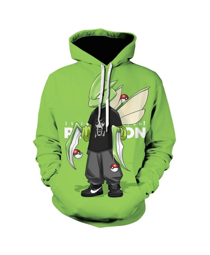 Hot Pokemon Men's New Brand Hoodie Luminous Jersey Hoodie Sweatshirt Casual Anime Hoodie Men Streetwear Pullover Cosplay Coat
