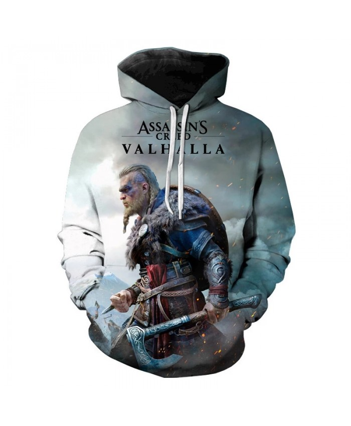 Assassins Creed Valhalla 3D Print Hoodie Sweatshirts Men Women Fashion Casual Cool Pullover New Game Harajuku Oversized Hoodies