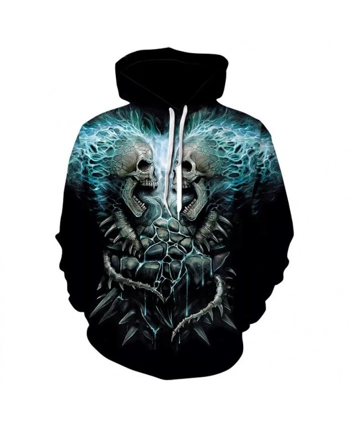Skull headr Men Hoodies Sweatshirts 3D Printed Funny Hip HOP Hoodies Novelty Streetwear Hooded Autumn Jackets Mlae Tracksuits