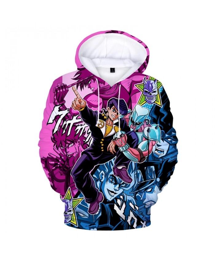 2021 New Anime JoJo's Bizarre Adventure 3D Print Hoodies Kids Fashion Casual Pullover Men Women Streetwear Hoodie Sweatshirts