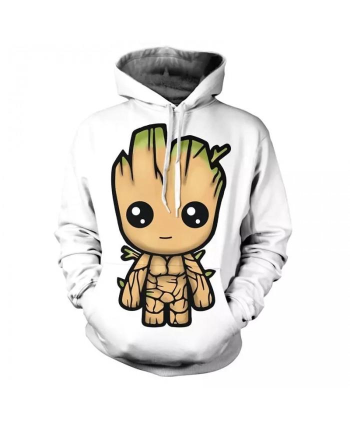 2021 Guardians Of The Galaxy Groot Men Hoodies Sweatshirts 3D Printed Funny Hip Hop Hoody Casual Streetwear Off White Hooded