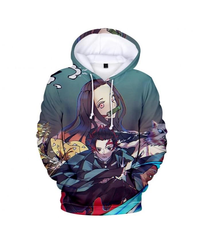 New Autumn 3D Ghost Blade Hoodies Men Women Streetwear Sweatshirt Hot Comic 3D Kids Demon Slayer children Casual Hooded
