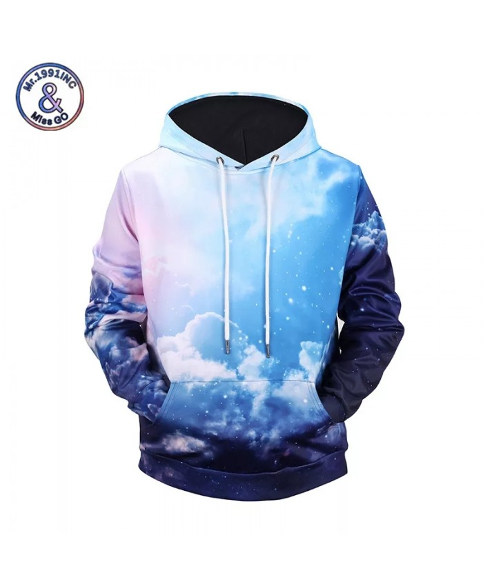 Blue Sky 3D Print Hoodies Hooded Men Women Sweatshirt Harajuku Tops Moletom Masculino Plus Size M-XXXL
