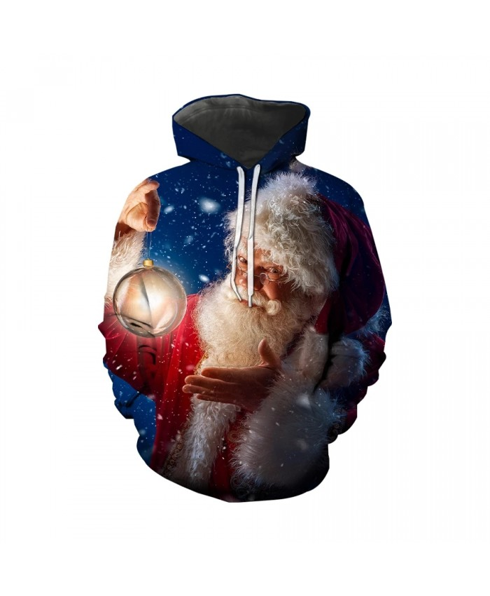 Men's and women's unisex 3D printed Christmas hoodies, creative design, personality, versatile and fun pullovers, diverse styles