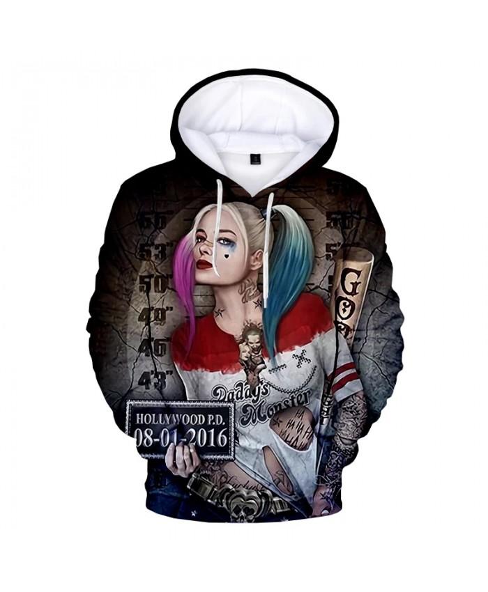 Hot Movie Harley Quinn 3D Print Hoodie Sweatshirts Men Women Fashion Casual Cool Pullover Harley Quinn Print Pattern Hoodies