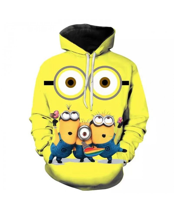 Cartoon Despicable Me Minions 3D Print Hoodies Men Women Children Hip Hop Streetwear Sweatshirts Boy Girl Cool Hoody Coat Anime