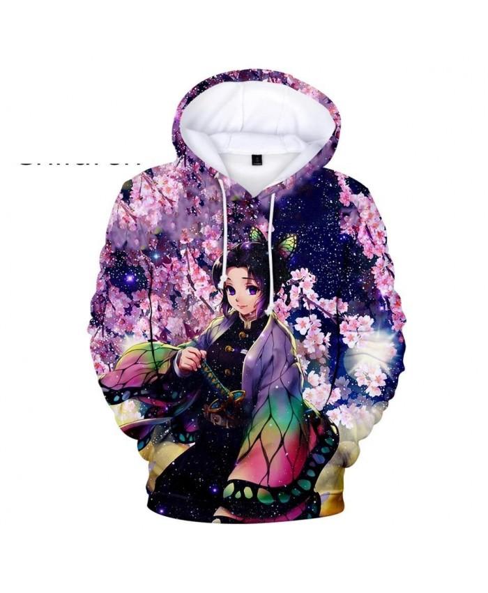 The Newest Ghost Blade 3D Hoodies Men Women Streetwear Hot Autumn purple children Sweatshirt 3D Kids Demon Slayer Pullovers
