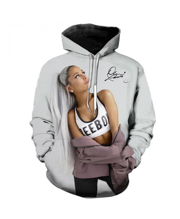 Ariana Grande American Singer 3D Printed Hooded Sweatshirt Men and Women Fun Hooded Streetwear Singer Hoodies