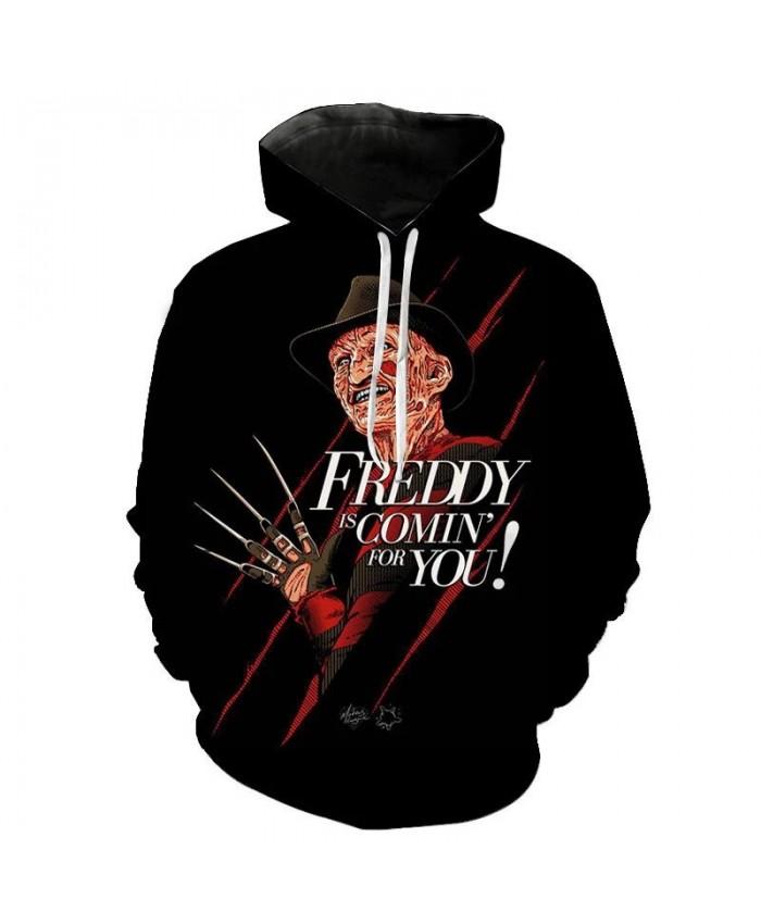 2021 Spring And Autumn Winter Fashion Wild Freddy Krueger 3D Men And Women Street Trend Hoodie Sweatshirt Cool Quality Jacket