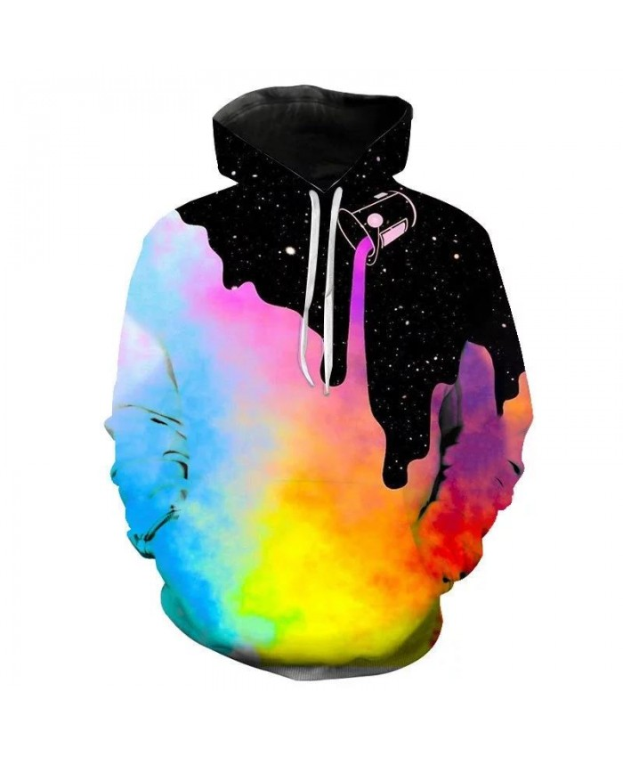 New Fashion Men Women Brand clothing Starry sky Funny 3D print hooded sweatshirt Purple starry sky romantic hoodies thin coat