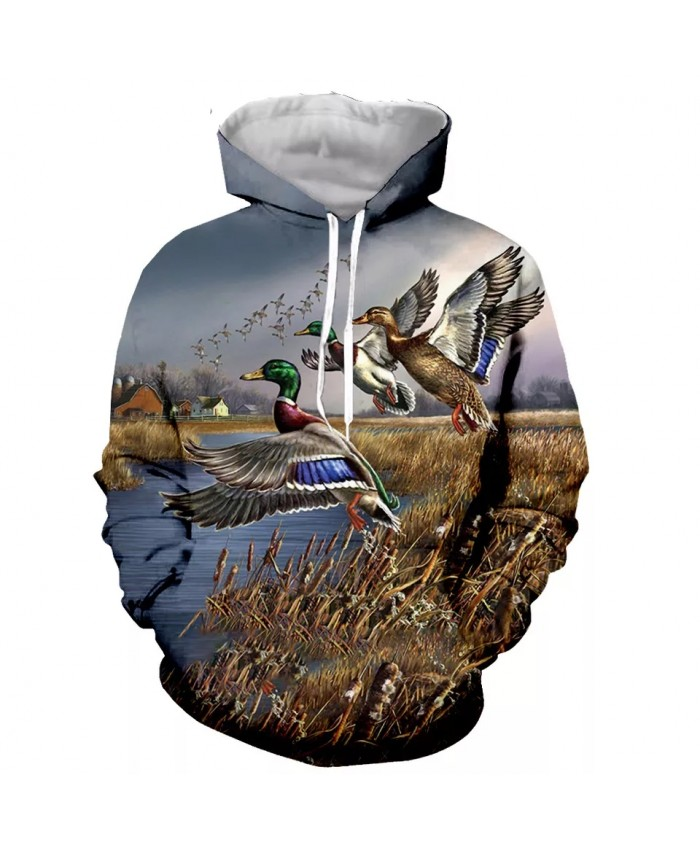 Animal duck Fashion Long Sleeves 3D Print  Hoodies Sweatshirts Jacket Men women