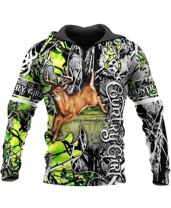New unisex casual sweatshirt hunting deer camouflage 3D printed sweatshirt hoodie zipper hoodie fun street casual sweatshirt NO5