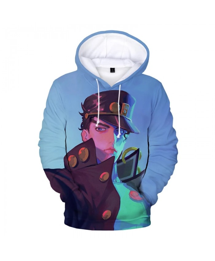 JOJO 3D Hoodies Men Women Harajuku Pullover Anime JoJo's Bizarre Adventure Sweatshirts Fashion Casual Cartoon Children Hoodie